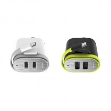 شارژر RockSpace Sotor Dual Travel Charger With Micro USB Cable