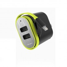 شارژر RockSpace Sotor Dual Travel Charger With Lightning Cable