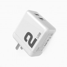 شارژر Rock Dual Port QC3.0 Travel Charger