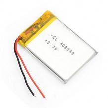باتری لیتیوم پلیمر 3.7 ولت با ظرفیت 480mAh
