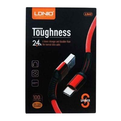 کابل الدینیو LDNIO LS63 Toughness USB Cable 2.4A Fast Charging