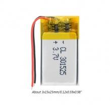 باتری لیتیوم پلیمر 3.7 ولت با ظرفیت 250mAh