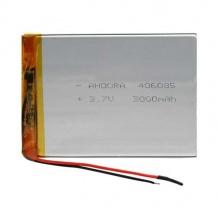 باتری لیتیوم پلیمر 3.7 ولت با ظرفیت 3500mAh سایز 406085