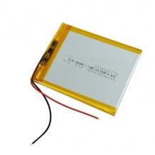 باتری لیتیوم پلیمر 3.7 ولت با ظرفیت 4000mAh سایز 356075