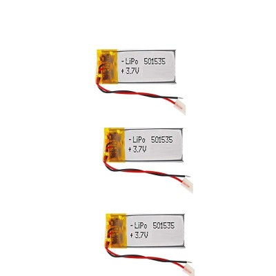 باتری لیتیوم پلیمر 3.7 ولت با ظرفیت 400mAh سایز 501535